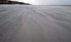 Kniepsand bei Sturm auf der Insel Amrum