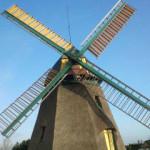 Mühle der Insel Amrum bei Nebel