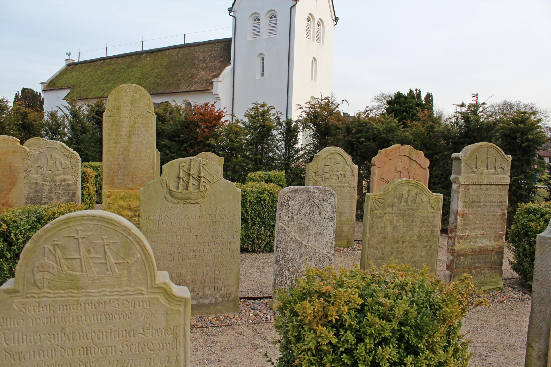 Friedhof der Kirche von Nebel auf Amrum