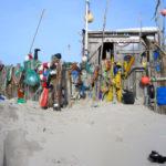 Strand-Hütte auf dem Kniepsand