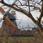Die Windmühle bei Nebel auf Amrum