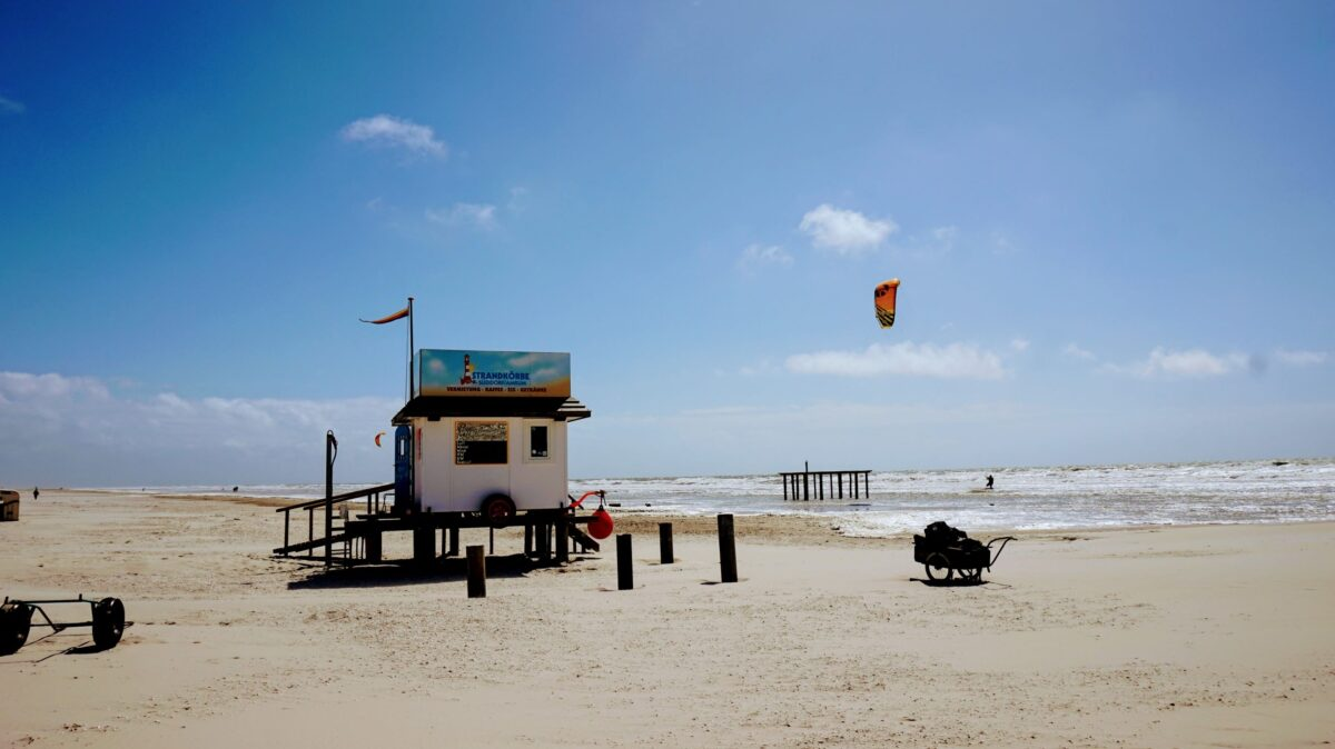 Der Strand von Süddorf - bei Kitesurfern beliebt!