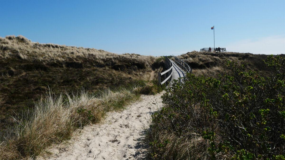 Bohlenweg: Brücke zum Strand